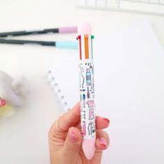 """Bolígrafo 6 colores """"Cosas de enfermeros"""" - Rosa"""