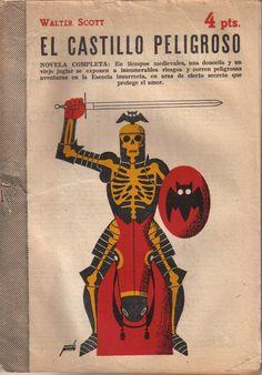 Manolo prieto. Graphic Posters, Graphic Art, Graphic Design, Bone Books, Beautiful Book Covers, Book Jacket, Retro Illustration, Monster Mash, Skeletons