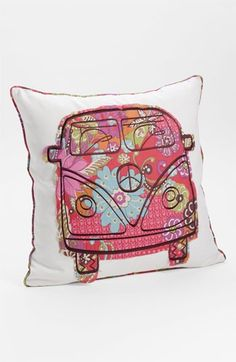 Levtex 'Bus' Appliqué Pillow