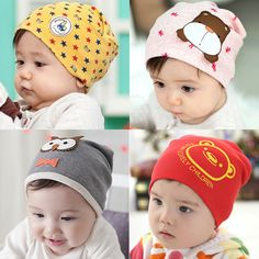 Retail boys girls summer spring baby hats cotton animal printed infant caps knitted   worth buying on AliExpress