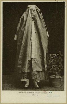 Woman's correct street costume. From The passing of Korea. (New York : Doubleday, 1906) Hulbert, Homer B. (Homer Bezaleel) (1863-1949) author