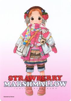 Scanned from the front of a Strawberry Marshmallow (Ichigo Mashimaro) pencil board at 400 dpi Character Concept, Character Design, Character Art, Manga Art, Anime Art, Zombie Girl, Japanese Anime Series, Pretty Drawings, Funky Art