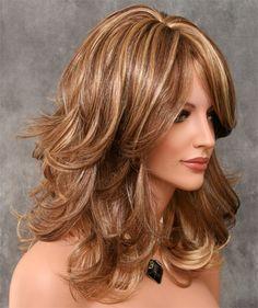 Medium Layered Hair, Short Hair With Layers, Choppy Layers, Real Hair Wigs, Human Hair Wigs, Choppy Hair, Wavy Hair, Medium Hair Styles, Long Hair Styles