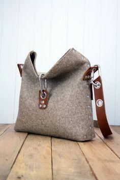 Feltro borsa con piega sopra la parte superiore borsa di Rambag Borsa Di  Feltro abd2f7c8668