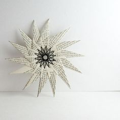 Large Paper Star  Origami & String Art Ornament  Home by bookBW, $24.00