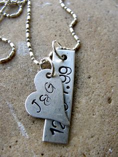 Custom Hand Stamped Sterling Silver
