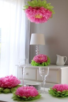 Tissue Paper Flowers - Light Pink - Set of 5 by Heart To Heart on @HauteLook