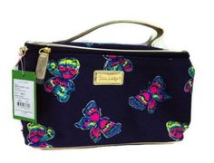 LILLY PULITZER BRIGHT NAVY I'VE GOT BUTTERFLIES GWP MAKE-UP ACCESSORY BAG #LILLYPULITZER #CosmeticBags