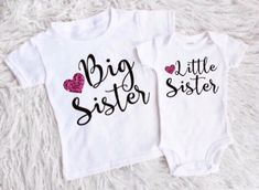 Big sister little sister outfits  little sister shirt big sister bodysuit big sister shirt shirts for girls new baby girl by EatSleepDrool on Etsy https://www.etsy.com/ca/listing/513760336/big-sister-little-sister-outfits-little