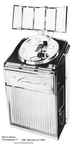 1962, AMI's Continental 2 stood 65 inches tall, and weighed over 340 pounds. [Jukebox Collector]