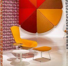 Bertoia Bird Chair and Ottoman with Saarinen Side Tables | Flickr