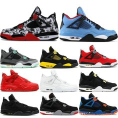 5a56cc55c778 Mens 4 4s Basketball Shoes Cactus Jack White Cement Game Royal Motor Best  Quality Mens Sport Sneakers Designer Shoes US 7 13 Youth Basketball Shoes  ...