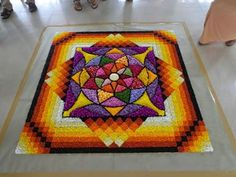 Indian Rangoli Designs, Rangoli Designs Flower, Rangoli Designs Images, Flower Rangoli, Beautiful Rangoli Designs, Rangoli Colours, Rangoli Patterns, Rangoli Ideas, Welcome Home Decorations