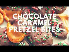Easy Chocolate Caramel Pretzel Bites Recipe Card - Crunchy Creamy Sweet