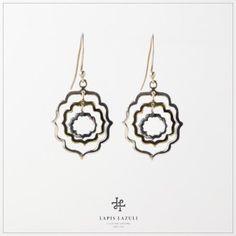 Moroccan Layer Earring Gemstone Earrings, Drop Earrings, Moroccan, Layers, Gemstones, Silver, Jewelry, Layering, Jewlery