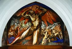 José Clemente Orozco, Prometheus, 1930, central panel, Frary Dining Hal, Pomona College in Claremont, California.