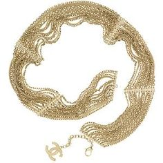 Chanel Gold Multi Chain Necklace