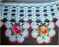 Fontes destes barrados do Facebook  Nilza Souza Crotchet Patterns, Crochet Lace Edging, Crochet Earrings, Lily, Embroidery, Blanket, Knitting, Adora, Everton