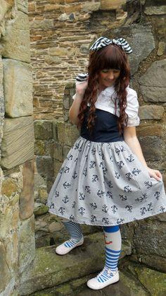 Sailor Lolita JSK size UK 812 by RockingHorseDesign on Etsy, $67.00