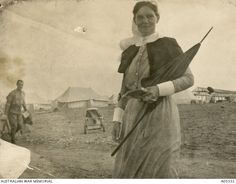 Matron Grace Wilson doing her rounds on Lemnos, 1915. An amazing women who was understanding and compassionate and literally made order out of chaos in WWI, especially in the 3AGH at Lemnos