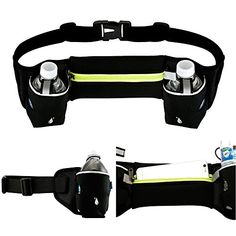 Oct17 Waist Pack Bum Bag  For Outdoor Sports Fitness Workout Hiking  Two Bottle Holder Pockets ** Learn more by visiting the image link. (This is an affiliate link) #FitnessRunningWaistPacks