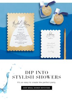 Stylish Bridal Shower Invitations from Wedding Paper Divas to Create the Perfect Party