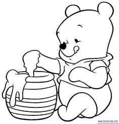 baby pooh coloring pages disney winnie the pooh tigger eeyore - Pooh Bear Coloring Pages Birthday