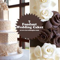 7 Fondant Wedding Cakes food cake yummy treats desserts wedding cakes cake ideas fondant cake pictures fondant cakes fondant wedding cakes