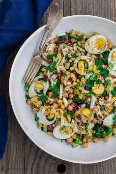 All-star egg salad recipe, prepared Mediterranean style with lots of fresh veggies, herbs, and a zesty Dijon dressing. This one defies all the rules of an egg salad, in a good way! Healthy, satisfying, and flavor-packed. Gluten free.