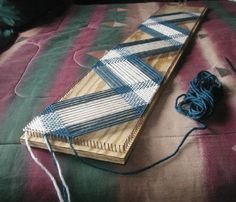 continuous warp weave on a long rectangle loom