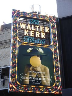 Marquee of the Walter Kerr Theatre, advertising Christine Ebersole in Grey Gardens