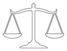 justice scale template - Bing Images