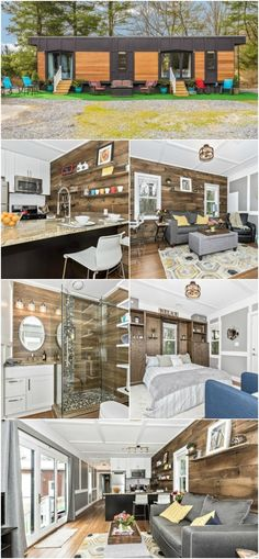 """Spacious and Rustic 420sf """"Dreamwood"""" Tiny House for Sale in Maryland - We've come across a beautiful tiny house for sale in Maryland that we have to share with you! It's built by """"Humble Homes"""" but we think it's anything but humble. The 420 square foot house has an attractive exterior with wood siding and stained trim and inside it gets even better with tons of storage and beautiful accents."""