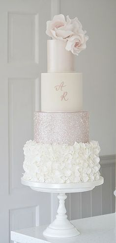 Luxury wedding cakes by cake designer Tracy James. Delivering wedding cakes accross the West Midlands. Cotton and Crumbs Cakes that taste as beautiful as they look. Blush Wedding Cakes, Luxury Wedding Cake, Floral Wedding Cakes, Elegant Wedding Cakes, Beautiful Wedding Cakes, Wedding Cake Designs, Wedding Cake Toppers, Beautiful Cakes, Dream Wedding