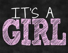 Gender Reveal It's A Girl chalkboard DIY printable by AMDdesigns1, $5.00