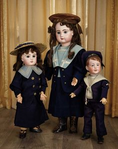 Sanctuary: A Marquis Cataloged Auction of Antique Dolls - March 19, 2016: French Bisque Bebe by Emile Jumeau, Size 12, Antique Mariner Costume and Signed Shoes