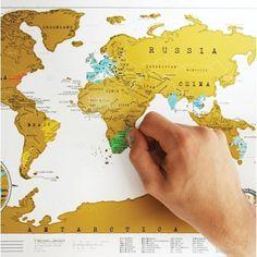 Mapa para raspar los lugares del mundo que ya visitaste ! - comprar online
