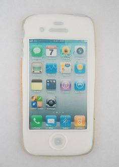 White Apple Iphone Cookie