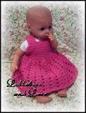 Delightfully Pink Baby Doll Dress free crochet pattern