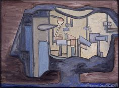 From The Estate of David Smith, David Smith, Untitled (1930-47), Oil on canvas, 9 × 12 in