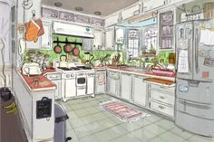 scottwatanabe | Concept art for the 2nd level of Hiro's House...