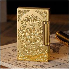 Bật lửa S.T.Dupont gold hoa văn tinh xảo - Mã SP: BLD 061