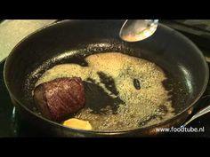 Masterclass biefstuk bakken - YouTube Masterclass, Kitchen Hacks, Food Videos, Pork, Restaurant, Make It Yourself, Oven, Meat, Cooking