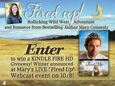 Mary is celebrating the release her new book, Fired Up, with a Kindle Fire giveaway and a LIVE author Webcast Event on October 8th. Click to enter to win and RSVP.