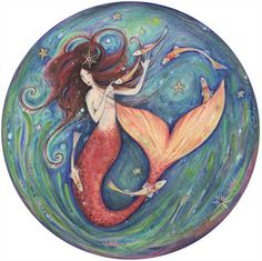 Gorgeous Little Mermaid fantasy art print by ArtSoulCreations