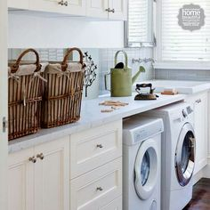 Laundry - Home Beautiful Magazine Australia Multipurpose Room, Modern Style Homes, Home Reno, Modern Spaces, Sweet Home, Interior Decorating, Shabby Chic, New Homes, Home Appliances