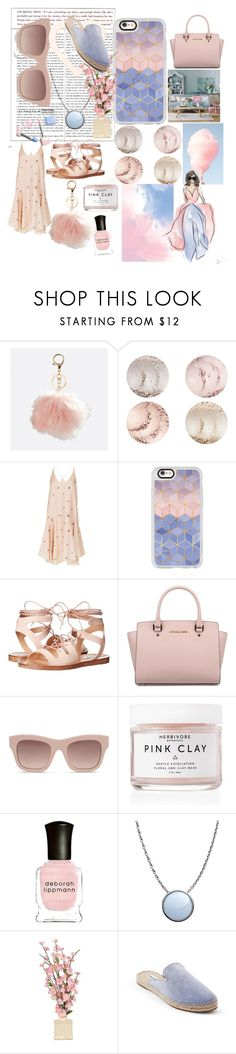 """All about Rose Quartz and Serenity"" by samiandrenee on Polyvore featuring Avenue, TIBI, Casetify, Steve Madden, Michael Kors, STELLA McCARTNEY, Herbivore, Deborah Lippmann, Skagen and Sephora Collection"