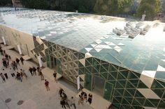 Solar panels as a facade