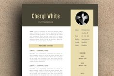 The Cheryl Resume Pack by LeResume on Creative Market