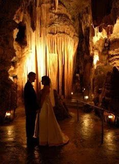 Bridal Cave in Camdenton--what a memorable wedding location!  -Would love something like this for mine!